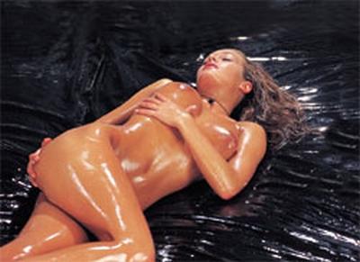 Wasbaar Orgy polyurethaan massage Bedlaken, zwart