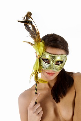 Venetiaans gezichtsmasker Venezia, Goud
