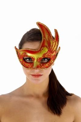 Venetiaans gezichtsmasker la Boheme, Rood