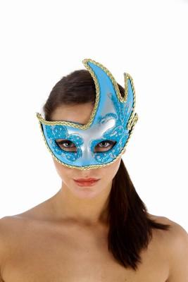 Venetiaans gezichtsmasker la Boheme, Blauw