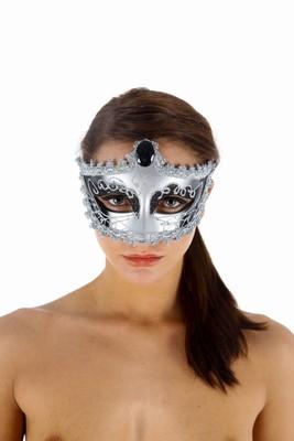 Venetiaans gezichtsmasker Nozze Di Figaro, Zilver
