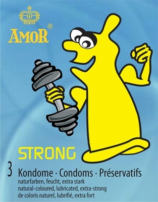 Amor Strong Anaal condoom, 3 stuks