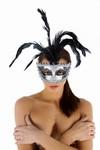Venetiaans gezichtsmasker Nessun Dorma, Grijs